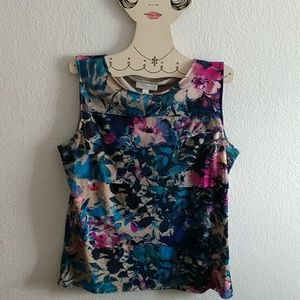 Dana Buchman Floral Sleeveless Blouse